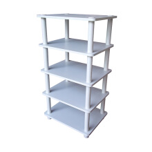 FUNIKA 4 Tier Storage Shelf Rak Pajangan (13161 WH-BK/WH)