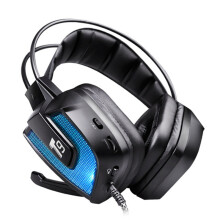 T9 50mm Driver LED Flashing Vibration Gaming Headphone Headset With Mic for Phone PC Computer Blue