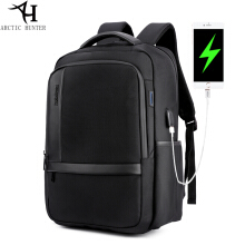Arctic Hunter Tas Ransel Laptop Backpack USB Power bank Support - Hitam AH-B-USB