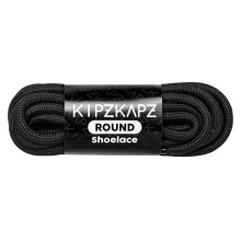 KIPZKAPZ R1 Round Shoelace - Black [4mm]