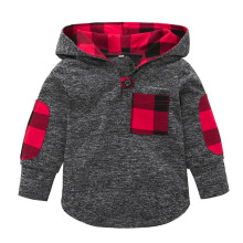 BESSKY Toddler Kid Baby Girl Plaid Hoodie Pocket Sweatshirt Pullover Tops Warm Clothes _