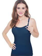 MOOIMOM Cotton Maternity & Nursing Bra Top - Navy