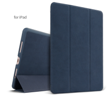 Ins AP-112 Super Thin PU Artificial deer skin pattern Surface scrub treatment Apple Ipad Pro10.5 protective cover-Blue