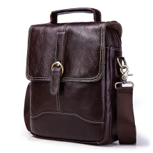 Zanzea 0051GZCZ Men Genuine Leather Business Shoulder Bag Retro Handbag Brown