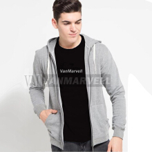VM Jaket Polos Hoodie Zipper Fleece Korean Abu Muda