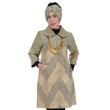 SHE BATIK Dress Batik Pias Lawasan - Lime Green