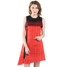 Rianty Batik Dress Wanita Abel 2 - Red