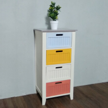 The Olive House - Dennies 4 Drawers/ FZ  15008 Multicolor(FREE ONGKIR JAWA & BALI) Multicolor