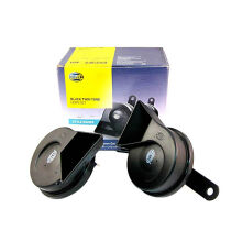 Hella Klakson Black Twin Tone Horn Set