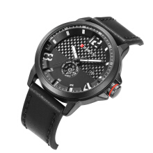 PEKY brand fashion casual quartz wristwatch men leather strap round Calendar Week relogio masculino 8253