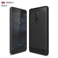 Smatton Case hp Nokia 5 Luxury Shockproof Case Carbon Fiber For Soft TPU Full Protect Ultra Thin Case shell