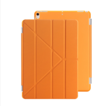 Ins I-0387 artificial leather Hard Core sheerApple Ipad MINI4 protective cover&Y stand-Orange