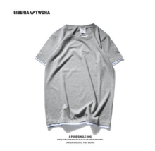 Ins V-267 Siberia Fashion T-shirt with Simple design-Grey