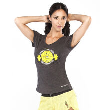 GRIPS Ladies Weight TEE Shirt GREY/YELLOW