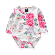 New Baby Newborn Toddler Flower Pattern Long Sleeves Jumpsuit