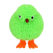BESSKY 6CM Novelty Flashing Puffer Chickens Squidgy Sensory Toy Activity and Play Ball_ Multicolor