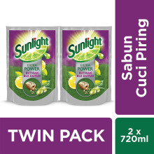 SUNLIGHT Extra Power Refill 720ml - Twin Pack