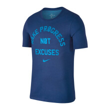 NIKE As M Nk Dry Tee Dfc No Excuses - Gym Blue/Lt Photo Blue/Htr
