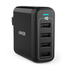 [free ongkir]PowerPort 4 40W USB Wall Charger Black A2142J12