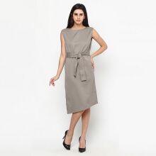 A&D Dress Sleveeless Brown Ms 1077 - Brown