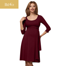 BLINGO Clothes For Pregnant Maternity Dresses Women Mom Pregnant Nursing Baby Maternity Wrinkle Long Sleeve Dress Clothes