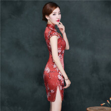 CHRSOL red cheongsam dress-Red