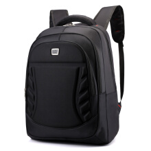Wei's select fashion men's wear-resistant waterproof computer backpack hot trend computer backpack B-DSY8801jingmiankuan Black