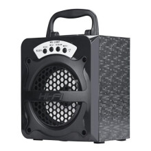 BESSKY Outdoor Bluetooth Wireless Portable Speaker Super Bass with USB/TF/AUX/FM Radio_ Black