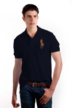POLO RALPH LAUREN - Mesh Polo Shirt Lacoste Navy Men