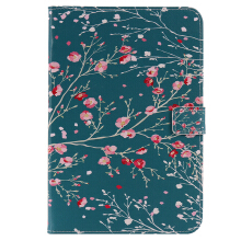 Keymao Samsung Tab A 8.0 T350 Cute Tablets Flip Stand Leather Cases Apricot tree
