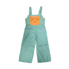 Tiny Button Toddler Girl Kotak Hijau Kantong Orange