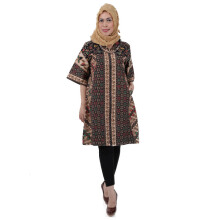 SHE BATIK Dress Batik Tulis Sinaran - Black Creme