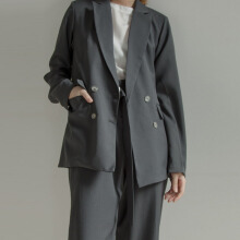 Shop At Velvet Metropolis Blazer - Dark Grey [All Size]