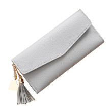 BESSKY Women Simple Long Wallet Tassel Coin Purse Card Holders Handbag_