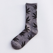Cool My style CS-26 California skate city Maple leaf socks(about 19cm)-Grey