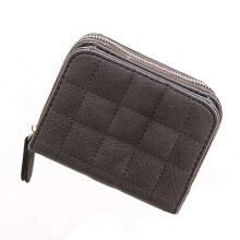 BESSKY Women's Wallet Card Holder Wallets Nubuck Chess Small Zipper Wallet Coin Purse_