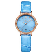 TIMEZONE Women's Genuine Leather Strap Quartz Watch 5007