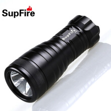 Professional Scuba Diving LED Flashlight Underwater Portable Light CREE XML-U2 1000 Lumens 10W Life-Saving Safety Hammer Torch Black