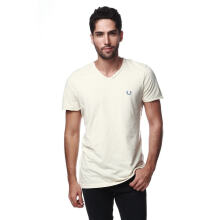 Fredperry Men- Sand V-neck Tshirt L