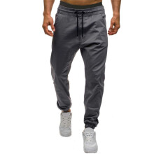 BESSKY Men Autumn Winter Casual Tether Elastic design Pants _
