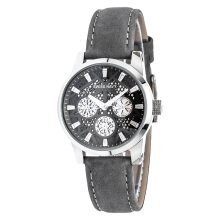 SWISS NAVY Ladies Black Dial Grey Leather Strap [8310LSSGY]
