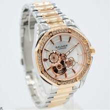 Balmer B.7981LPR-D37H1278SLRG Small Second Shappire Crystal Stainless Steel Jam Tangan Wanita Silver Rosegold Gold