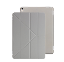 Ins I-0382 artificial leather Hard Core sheerApple Ipad MINI4 protective cover&Y stand-Grey