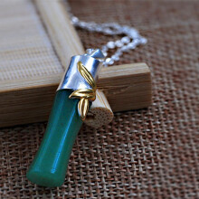 Luo Ling Long DIY Silver jade bamboo necklace