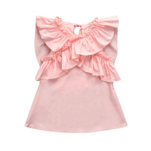 BESSKY Newborn Infant Baby Girls Butterfly Wings Ruffles Dress Outfits Clothes Dress_