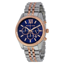 Michael Kors Lexington Chronograph Navy Dial Two-tone Stainless Steel [MK8412]