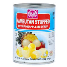 ERAWAN Rambutan Stuffed with pineapple in syrup 20 oz (565 gr)
