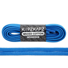 KIPZKAPZ WS37 Waxed Cotton Flat Shoelace - Blue [6mm]