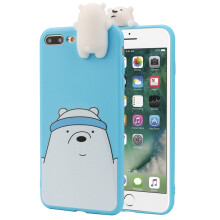 BESSKY 3D Cartoon Animals Cute Bare Bears Soft Silicone Case Skin For IPhone 7 Plus_