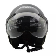 CARGLOSS YR Ghotic Helm Half Face - Deep Black